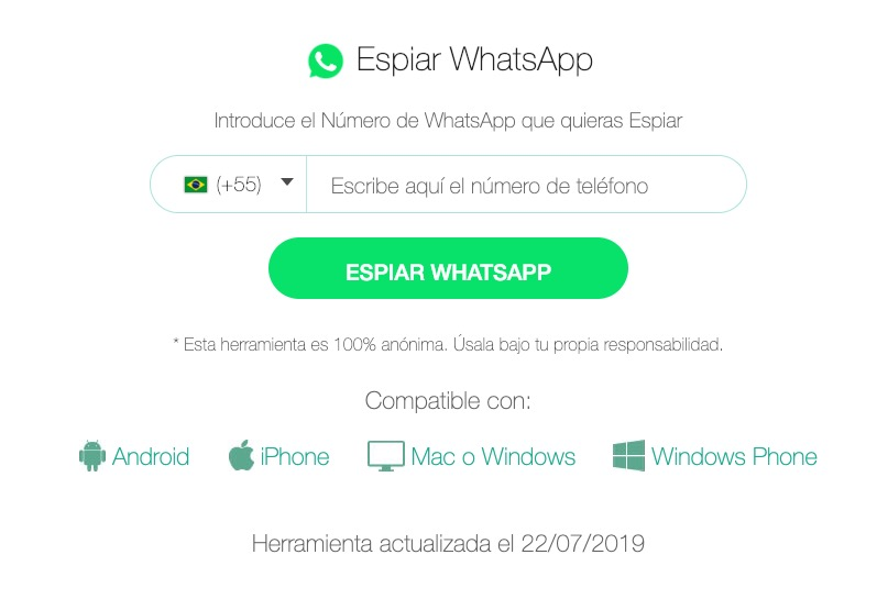 espionar whatsapp pelo numero