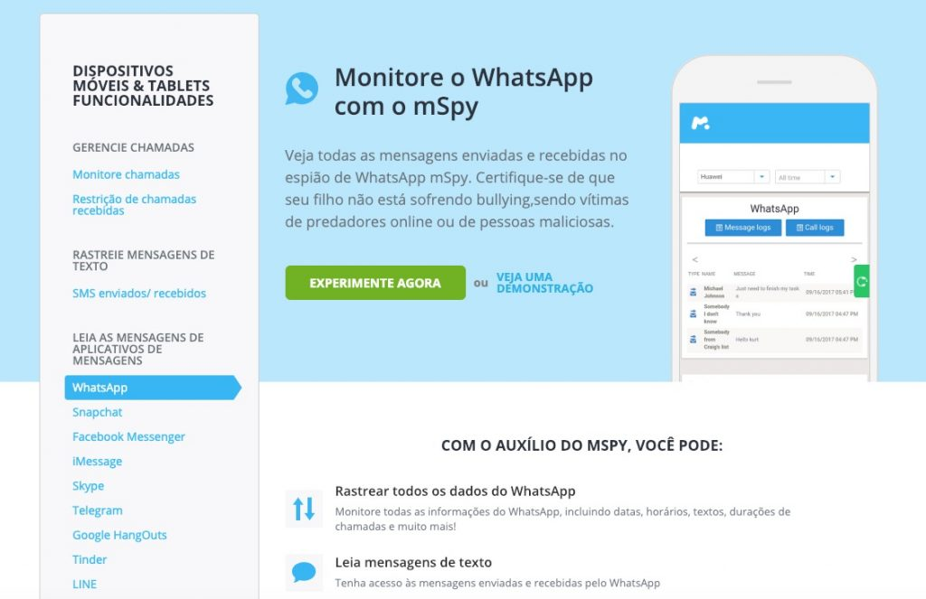 Aplicativo Espião Whatsapp